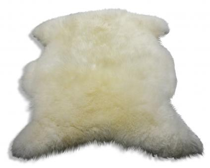 Lammfell (weiß & braun) in 2 Größen Groß: 115 x 70 cm | Weiß