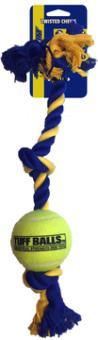 3-Knoten-Seil mit Tennisball