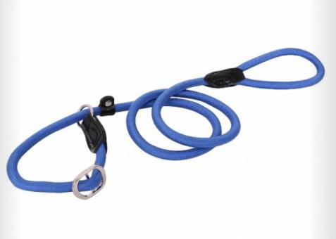 Moxon-/Retrieverleine mit Zugstop Blau