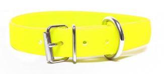 Biothane® Halsband mit Rollenschnalle / neongelb
