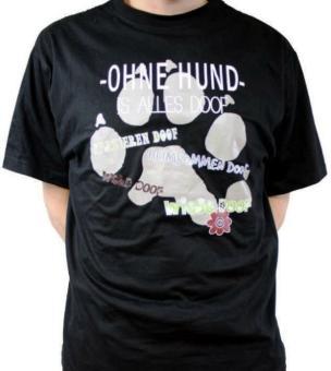 """FUN-Shirt: """"OHNE HUND IST ALLES DOOF"""""""