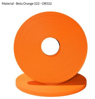 Original Biothane® Material / ganze Rollen  13mm | neonorange (OR522)