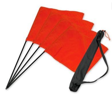 """Mystique® """"Marking Flag"""" Set orange 4 Stück + Tasche"""