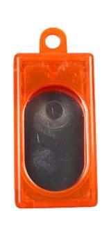 Kasten-Clicker (transparent) Orange