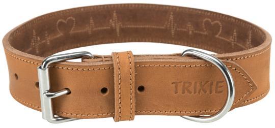 TRIXIE Rustic Fettleder Halsband Heartbeat