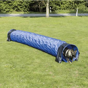 TRIXIE Agility Basic Tunnel, ø 60 cm/5 m, blau