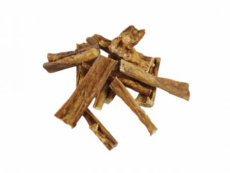 Rinderkopfhaut - naturbelassen / getrocknet, geschnitten (8-15cm Stücke)
