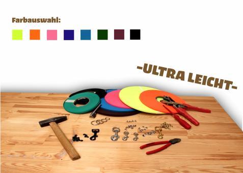 """Biothane® Leinen-Baukasten """"Ultra Leicht"""" (Ultra Thin, Granite) 9mm"""