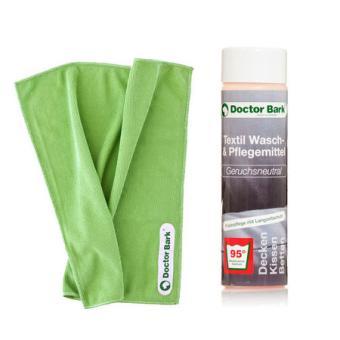 DOCTOR BARK® SET Waschmittel + Mikrofasertuch