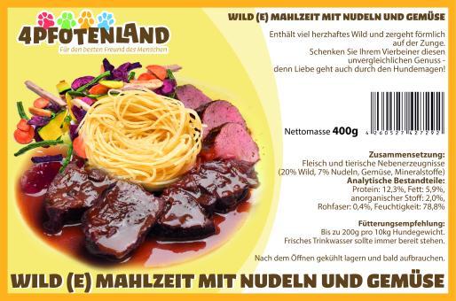 Wild(e) Mahlzeit mit Nudeln und Gemüse 400g