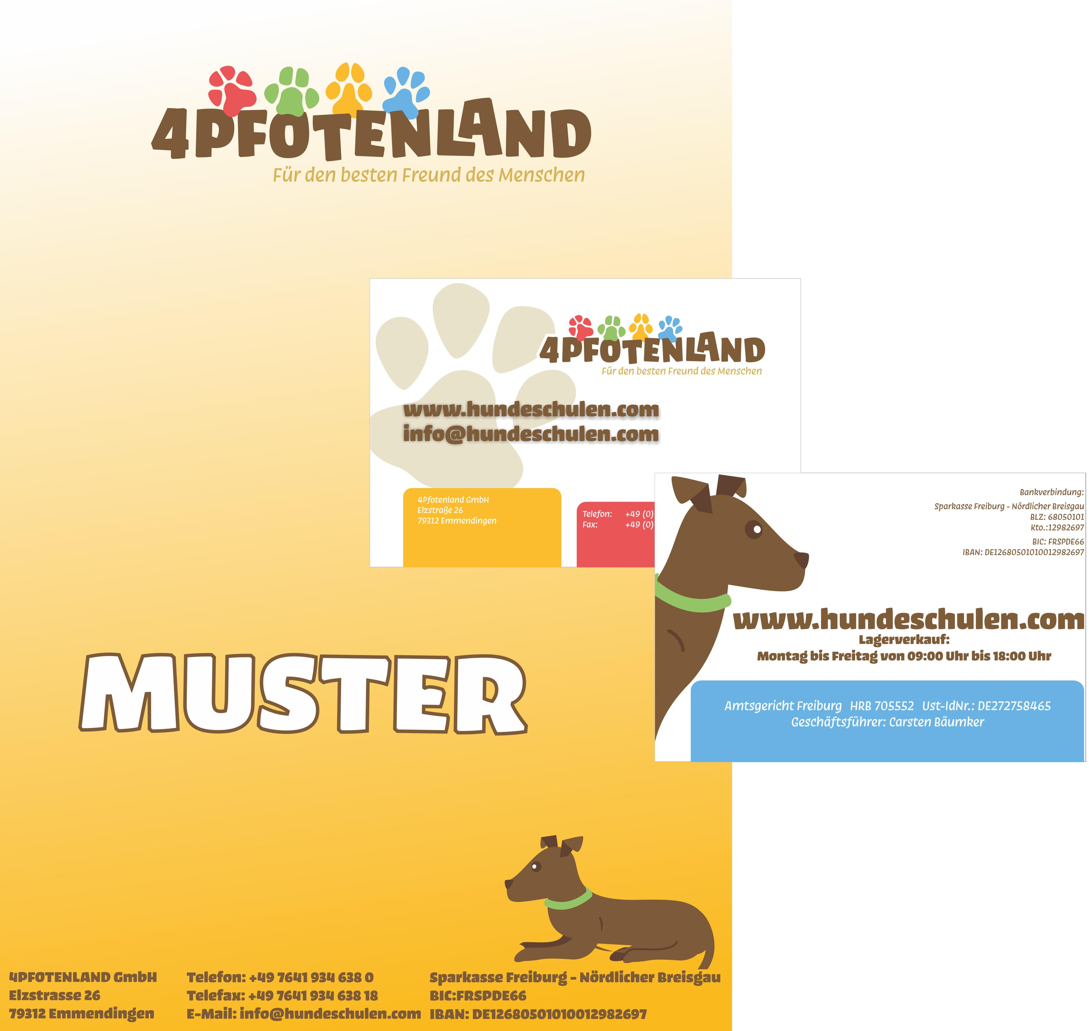 Hundeshop Erstauftrag Briefpapier Visitenkarten Mit Ihrem Logo 250 1000 St